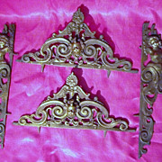 Victorian Decorative Escutcheon Set  'Art Nouveau' Period