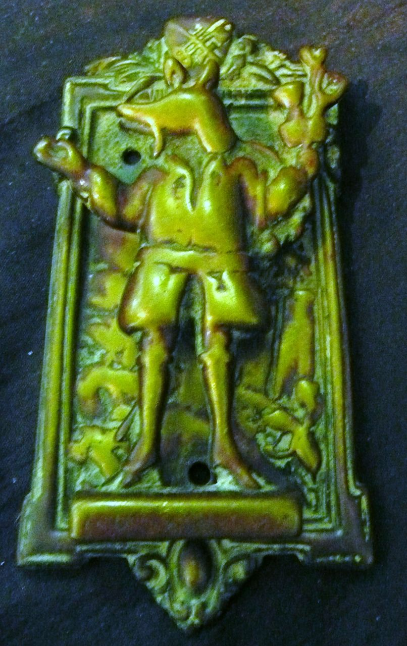 "Old English ""Trusty Servant"" Door Knocker Circa 1900-1910"