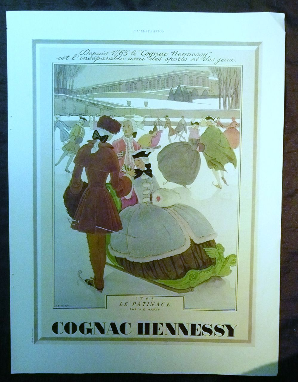 ORIGINAL Cognac HENNESSY Advert  From L ' Illustration French Magazine December 1938