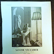 ORIGINAL Savoir SECLAIRER Advert  From L ' Illustration French Magazine December 1938