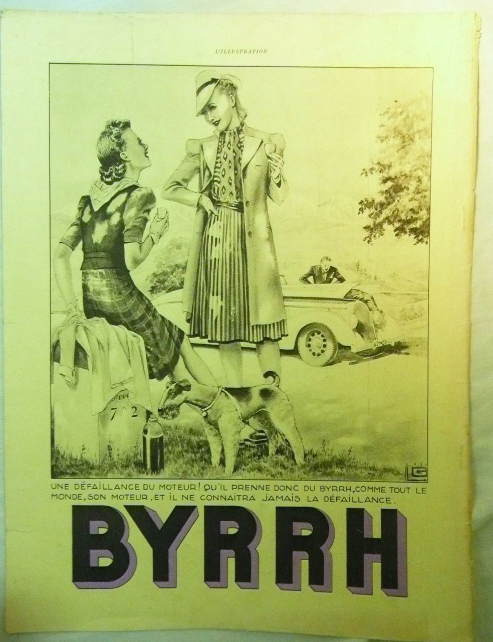 "ORIGINAL ""BYRRH""  Aperitif Advert  From L ' Illustration French Magazine  July 1939"