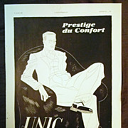 "ORIGINAL ""UNIC"" Advert From L ' Illustration French Magazine March 1937"