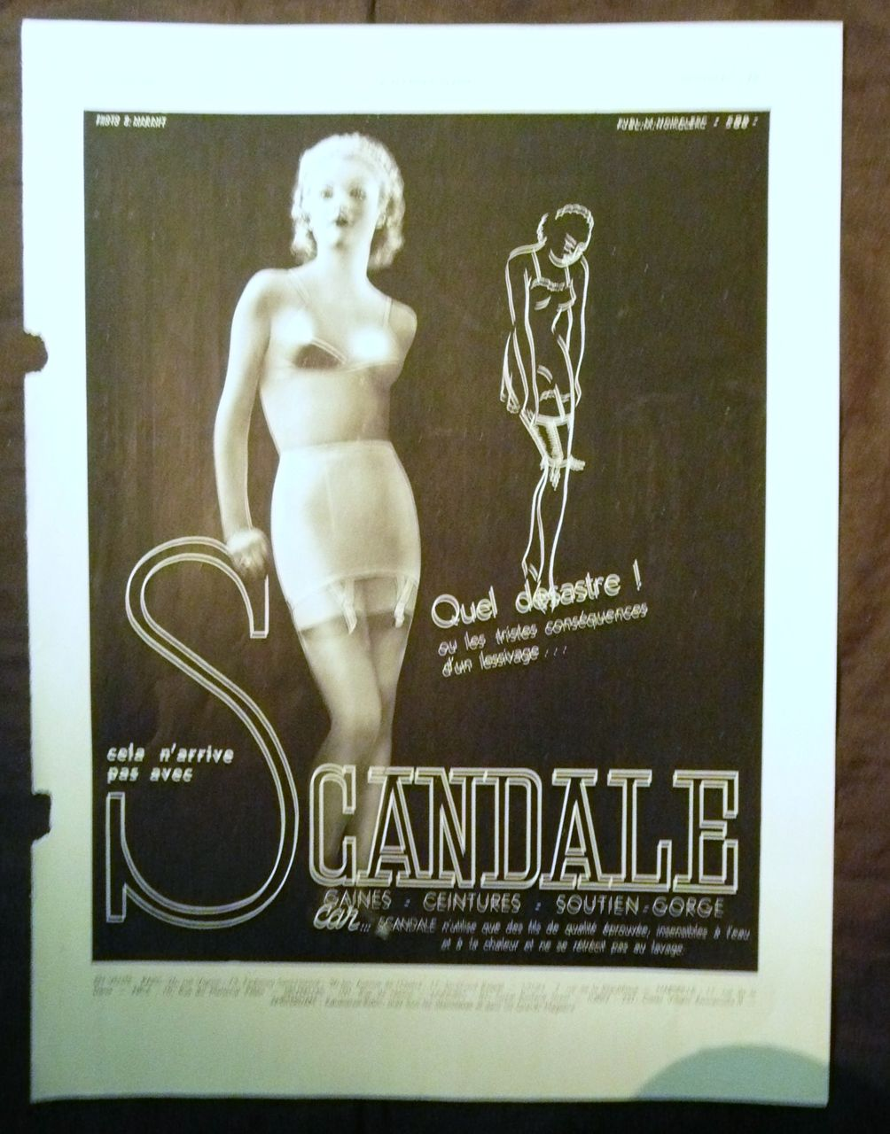 "ORIGINAL ""SCANDALE"" Advert From L ' Illustration French Magazine March 1938"