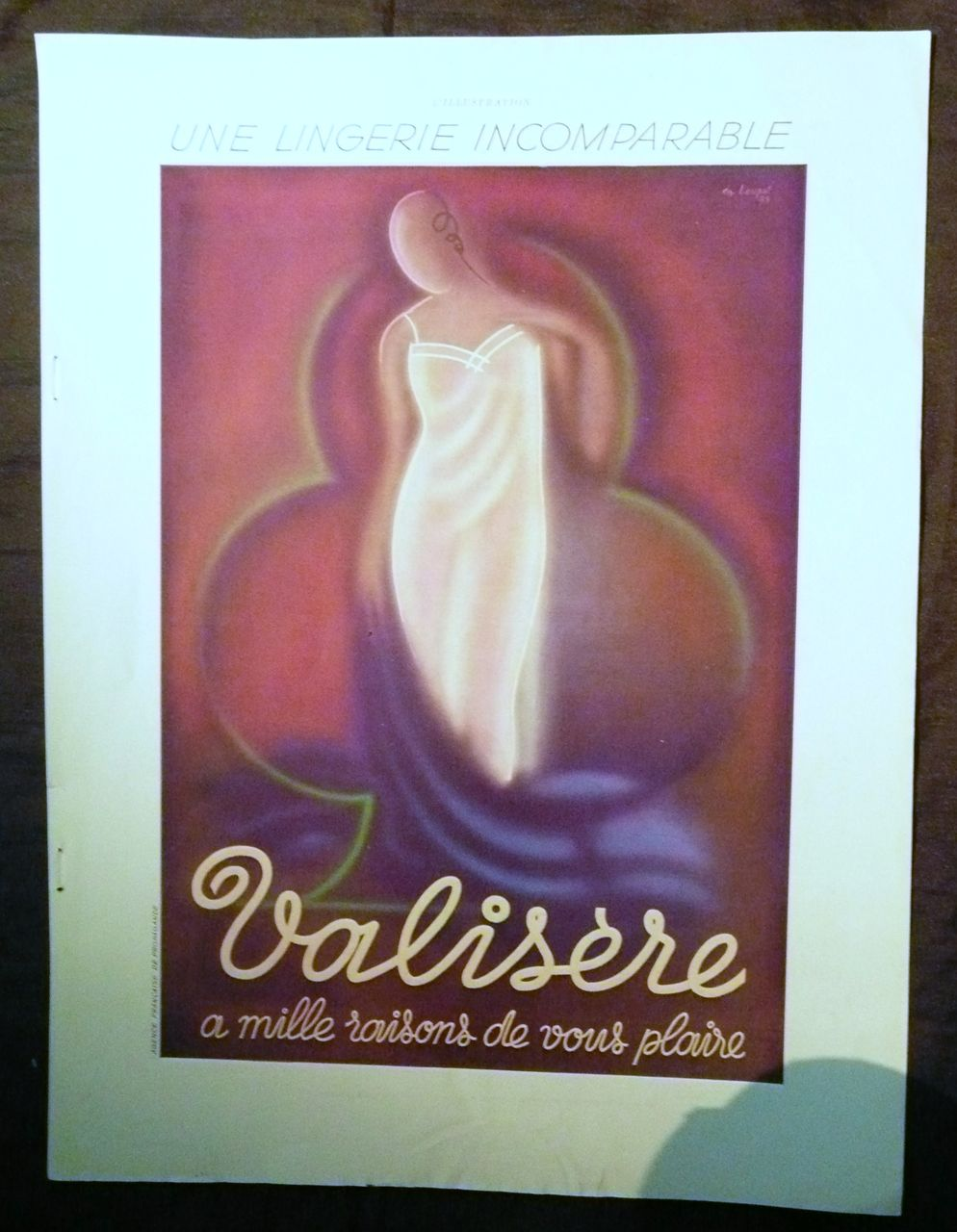 "ORIGINAL ""VALISERE Lingerie"" Advert From L ' Illustration French Magazine May 1937"