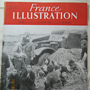 "ORIGINAL Front Cover ""INDOCHINE War""   From L ' Illustration French Magazine March 1947"