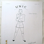 "ORIGINAL ""UNIC"" Advert From  L ' Illustration French Magazine  December 1938"