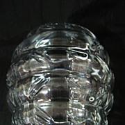 Lovely  & Unusual ART DECO Crystal Vase Circa 1930's