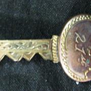 9 Carat Gold 21st Key Brooch