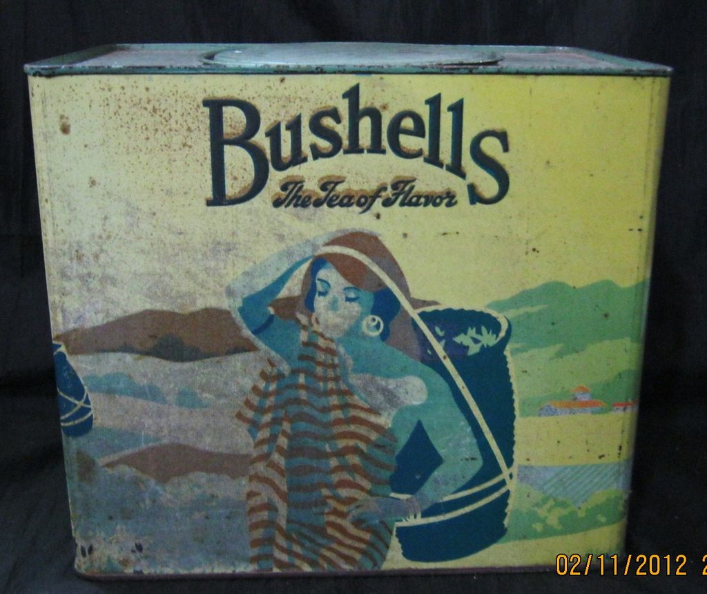 Huge Vintage BUSHELLS Tea Tin