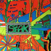 RETRO 70's - 80's  Houston Blacklight Poster