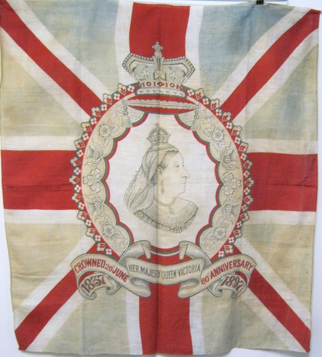 Large Original Antique Flag  of Queen Victoria