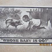 """Black American Postcard """" Whose Baby Is OO?"""""""