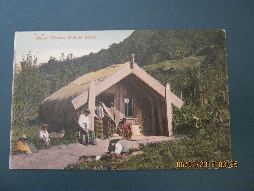 Maori Whare, Mokoia Island, New Zealand