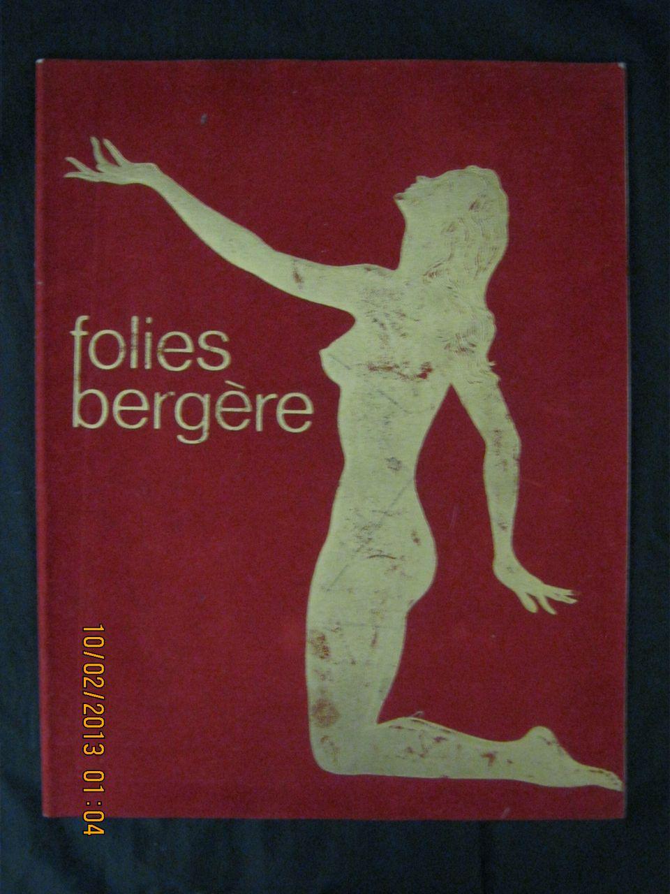 """Folies Bergere"" Program Circa 1960"
