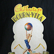 Old BOURN-VITA Counter Display Card Circa 1950's