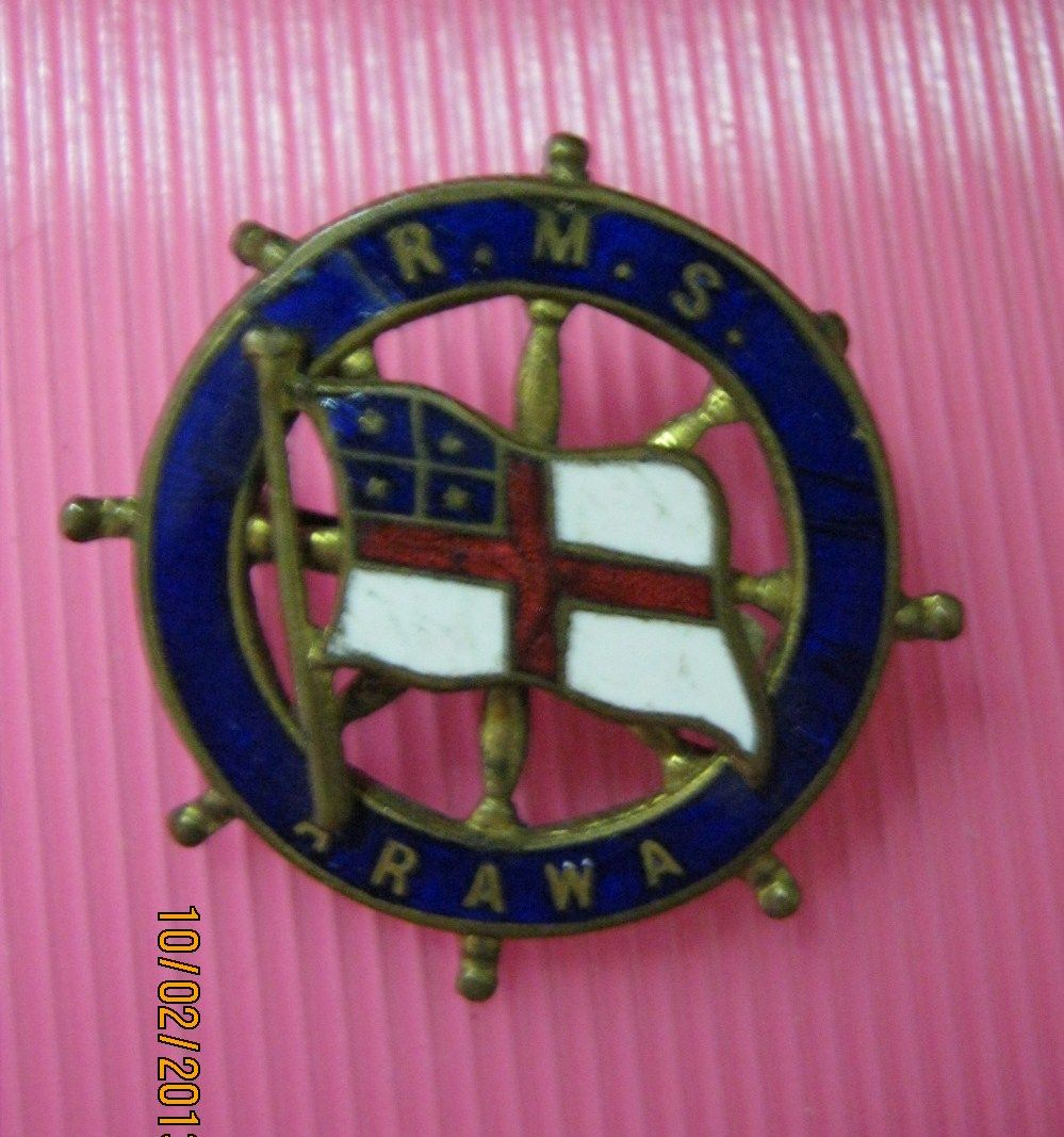 R.M.S. Arawa Souvenir Brooch / Badge