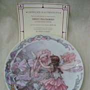 'Sweet Pea Fairies' By Windsor Fine China - Limited Edition Plate 1998