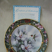 Lena Liu's Humming Bird Treasury By W.L. George Fine China 1st Issue Plate 1992