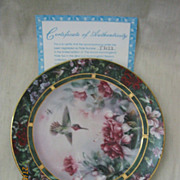 Lena Liu's Humming Bird Treasury By W.L. George Fine China 2nd Issue Plate 1992