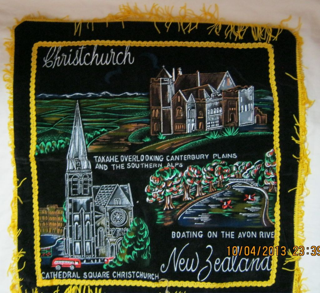 Retro New Zealand Tourism Cushion Cover Circa 1970's