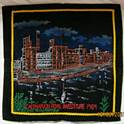 "RETRO ""Caernarvon Royal Investiture 1969"" Tourist Souvenir Cushion Cover"