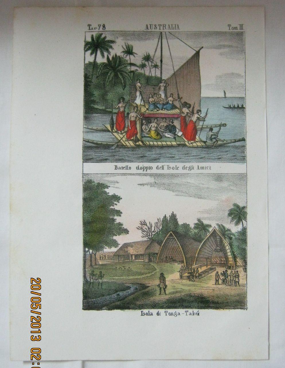 Original Page From The Galleria Universale di Popoli Del  Mondon - Venice 1841