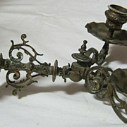 Victorian Baroque Double Arm Piano Candle Sconce