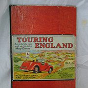 Touring England MAP Game -Circa 1950