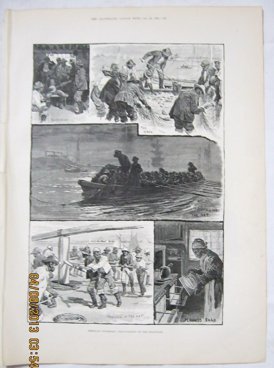 Shad Fishing on The Delaware - Illustrated London News 1883