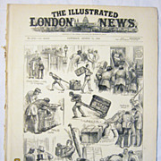 The Parcels Post - Front Cover  & One Page Illustrated London News August 1883