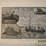 Our Fishing Industries -Whitebaiting -  - Illustrated London News 1883
