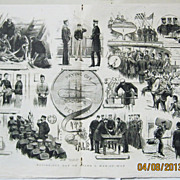 Paying-Off Day on Board Man of War - DPS Illustrated London News 1883