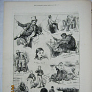 Sketches of Irish Character in Dublin - Illustrated London News 1881