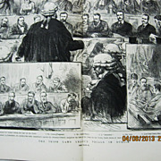 The Irish Land League Trials in Dublin - DPS Illustrated London News 1881
