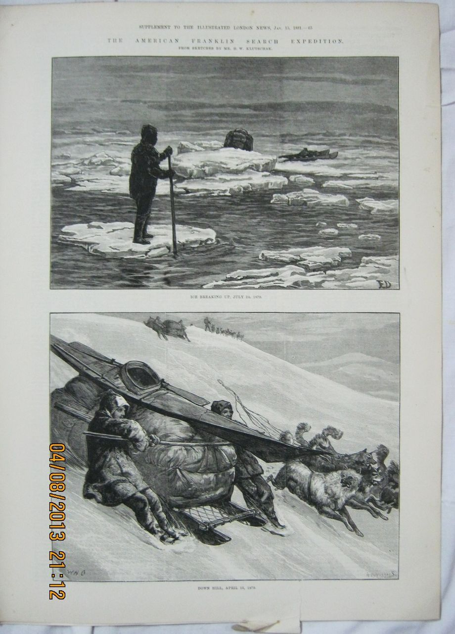 4 Pages American Franklin Search Expedition - Illustrated London News 1881