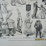 Fancy Dress Ball at Brookwood Lunatic Asylum - Illustrated London News 1881