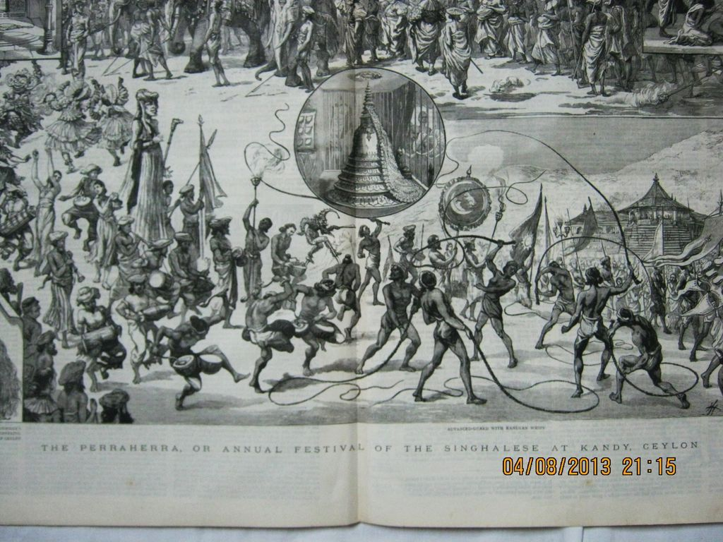 Singhalese Festival at Kandy - DPS From The Graphic 1885