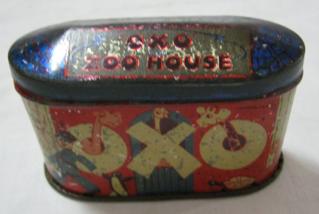 OXO CUBES Zoo House Tin Circa 1930's