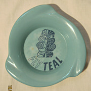 TEAL Airlines Souvenir Ashtray - Circa 1960