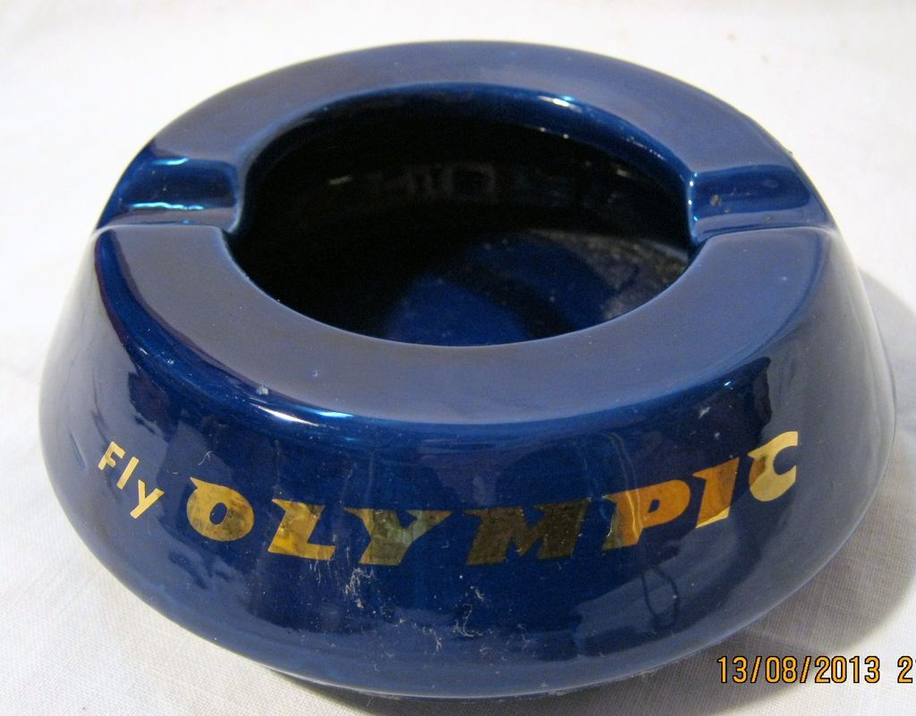 Olympic Airways Promotional Ashtray - Circa 1960-70