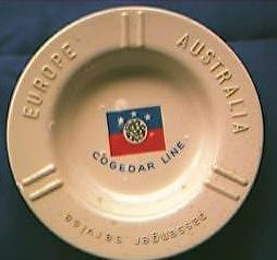 Cogedar Line Advertising Ashtray