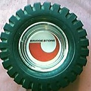 HUGE Bridgestone Advertising Tyre Ashtray