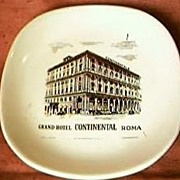 Grand Hotel Continental Roma Advertising Ashtray