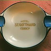 Hotel St. Gotthard Advertising Ashtray