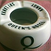 Queens Hotel Kandy Advertising Ashtray.