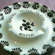 Grand Hotel Flora Rome Advertising Ashtray