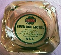 Eden Roc Motel Anaheim Advertising Ashtray