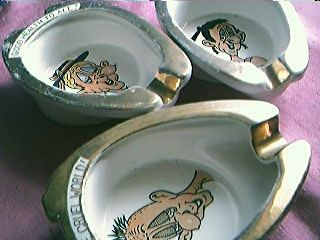 Set of Three Toilet Seat  Humour Ashtrays