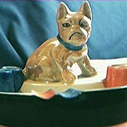 Japanese Dog Lustre Ware Ashtray