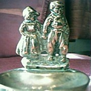 Brass Dutch Children Ashtray